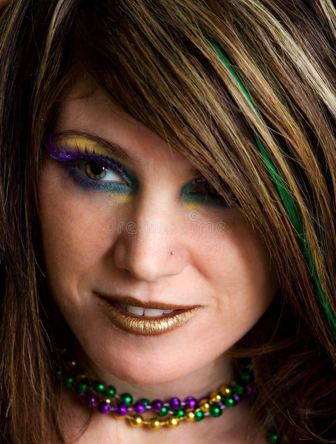 Close-Up da mulher com composição colorida imagens de stock