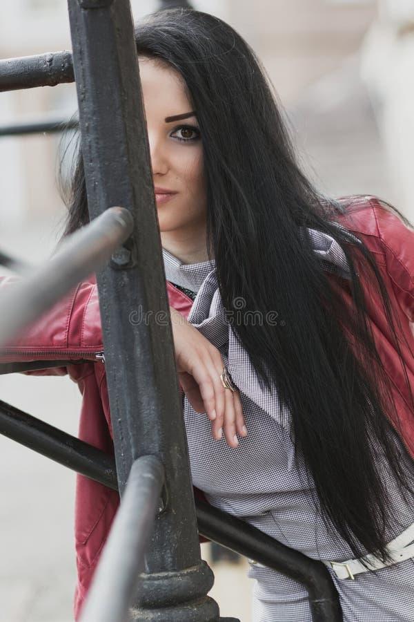Close up da mulher da beleza fotografia de stock royalty free