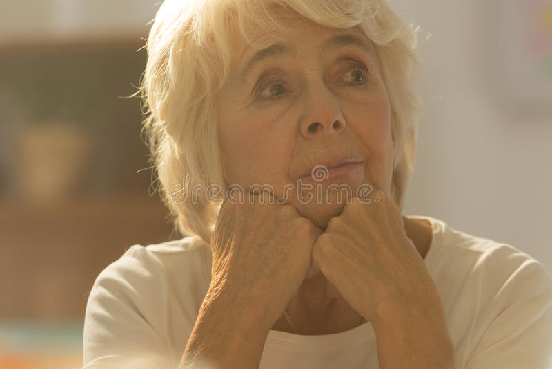 Close-up da mulher superior imagem de stock royalty free