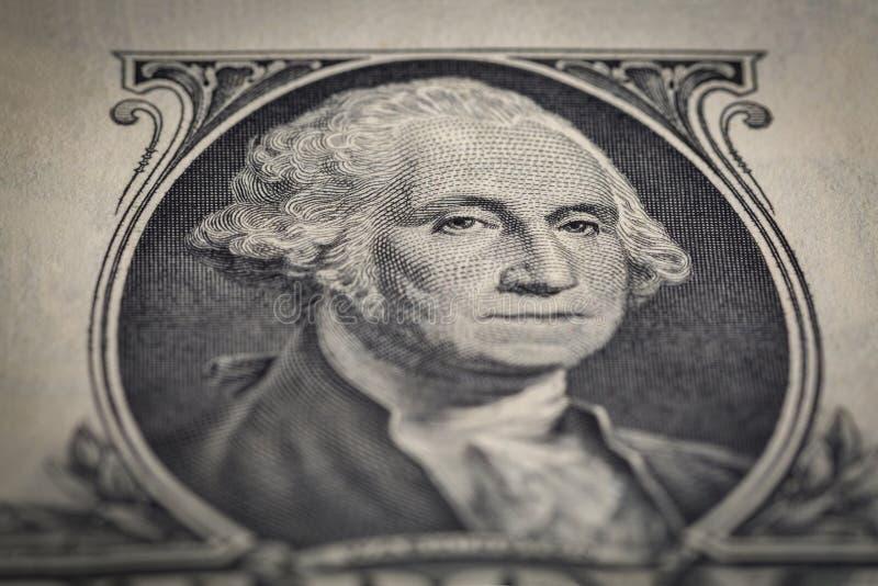 Close-up da nota de dólar do retrato um fotos de stock