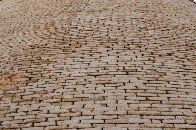 Close up da parede de tijolo do forte Bahawalpur Paquistão de Derawar imagem de stock