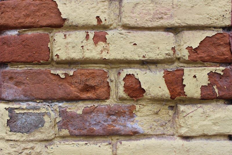 Close up da parede de tijolo velha, fundo, textura imagem de stock