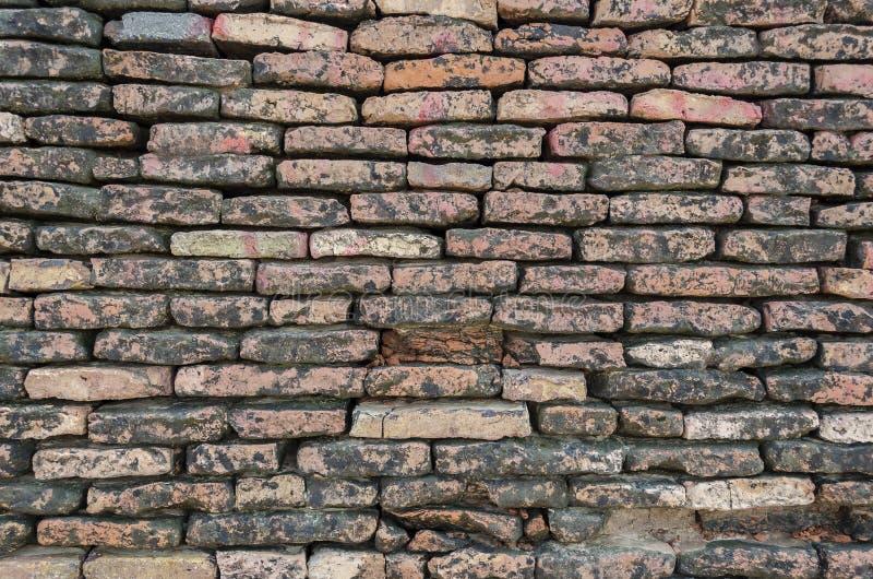 Close up da parede de tijolos no forte Bahawalpur Paquistão de Derawar fotografia de stock