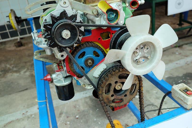 Close up da peça moderna do motor de automóveis do motor do automóvel imagem de stock royalty free