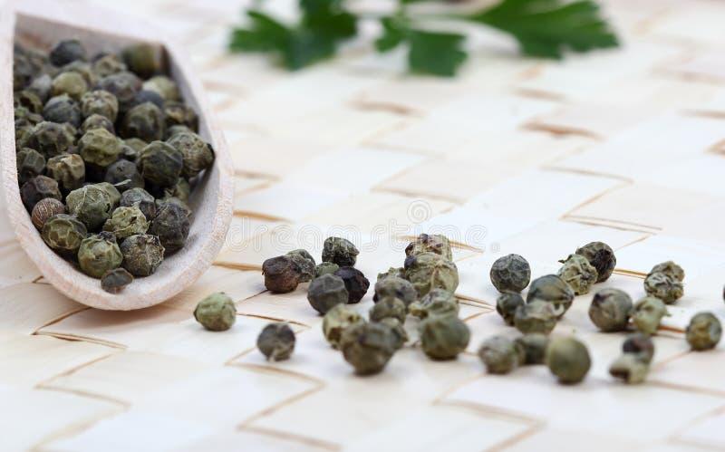Close-up da pimenta verde foto de stock royalty free