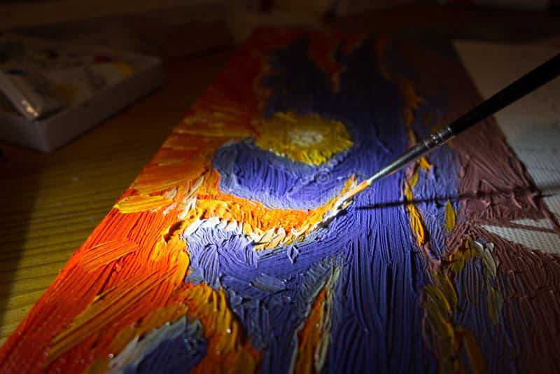 Close up da pintura ilustração stock