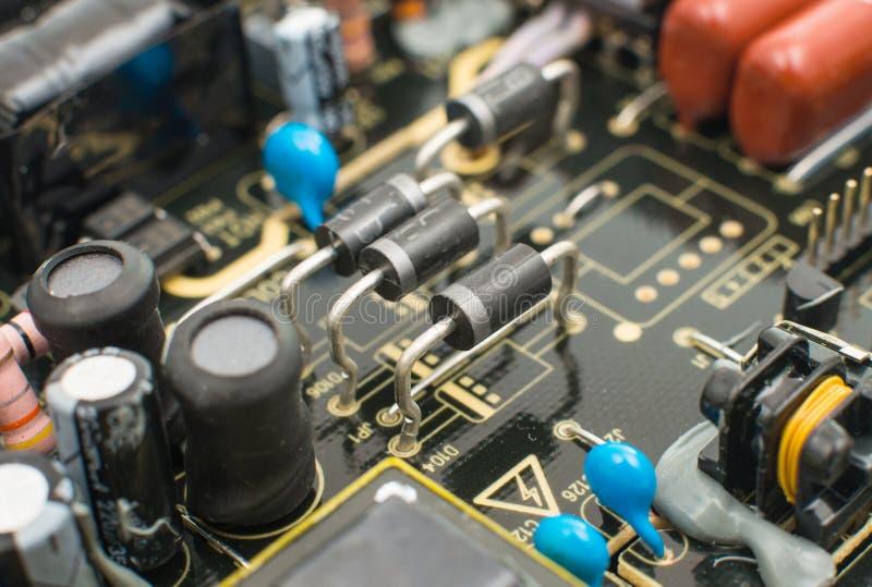 Close-up da placa de circuito eletrônico foto de stock royalty free