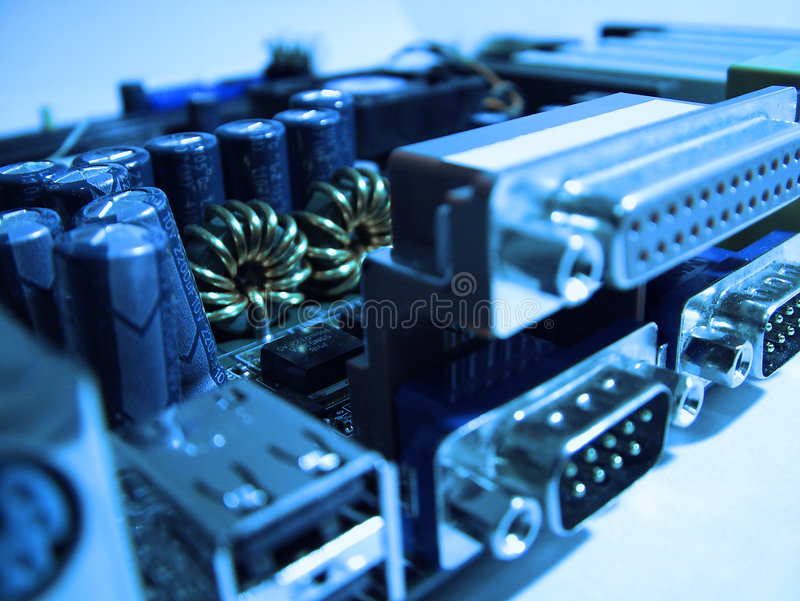 Close up da placa do computador fotos de stock