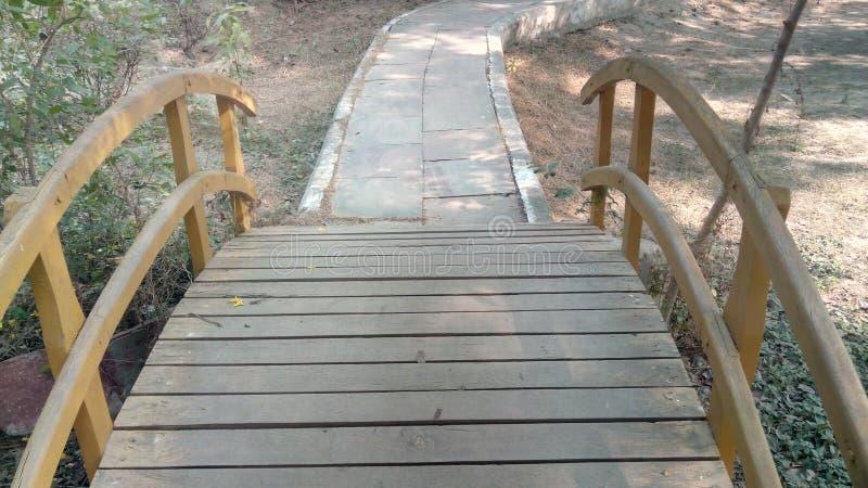 Close up da ponte em Taj Nature Walk foto de stock royalty free