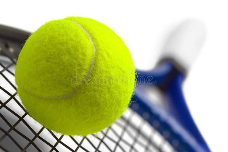 Close up da raquete de tênis imagens de stock