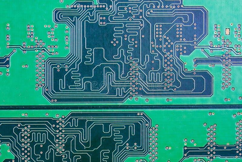 Close-up da textura de RAM e da placa do computador imagens de stock royalty free