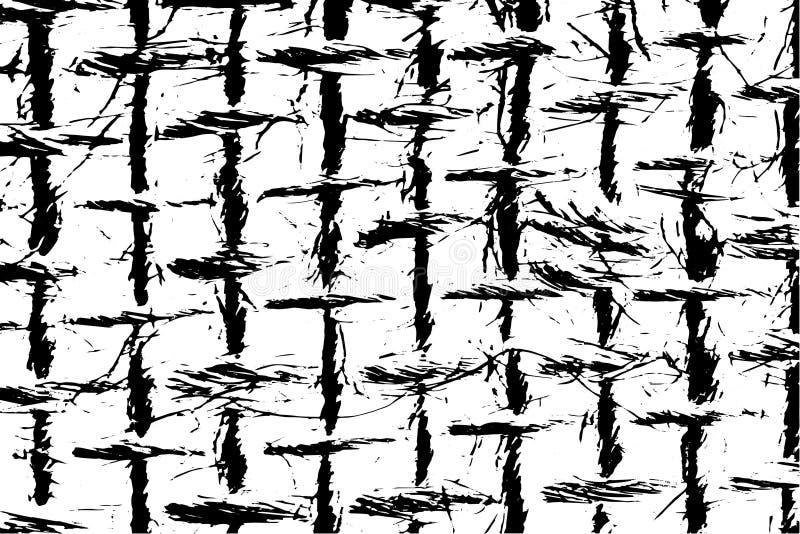 Close-up da textura do Grunge de fibras naturais de serapilheira ilustração stock