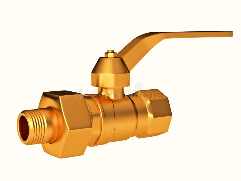 Close-up da válvula ou do stopcock de porta isolada ilustração royalty free