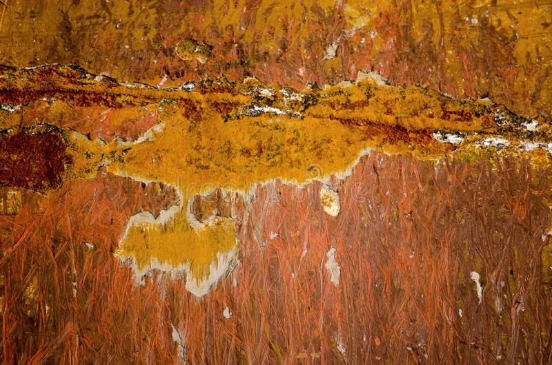 Close up of a rusty ship hull royalty free stock images