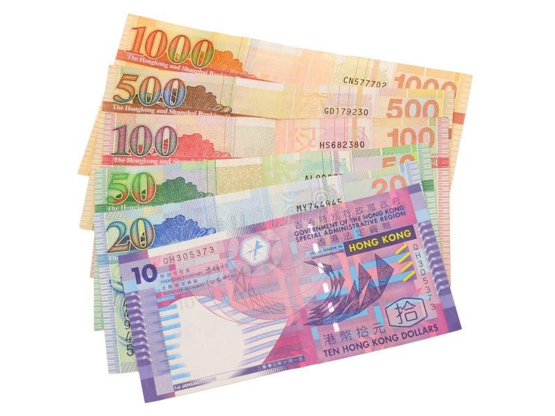 Close up das contas de dólar de Hong Kong foto de stock royalty free