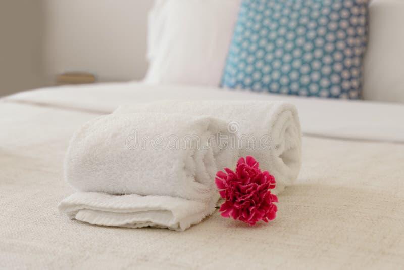 Close up das toalhas foto de stock
