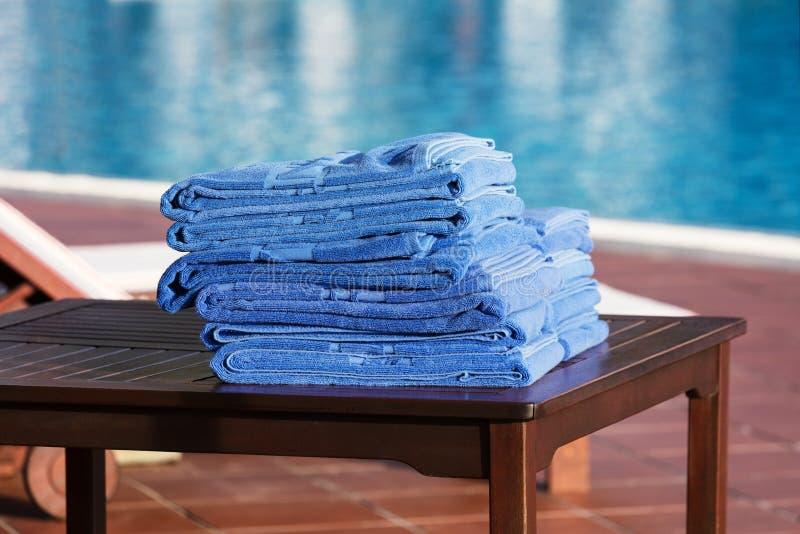 Close-up das toalhas foto de stock royalty free