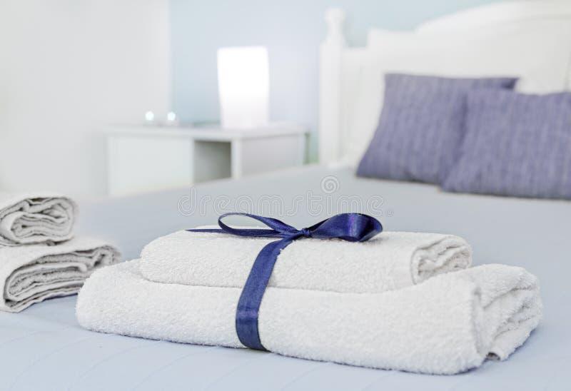 Close up das toalhas imagem de stock