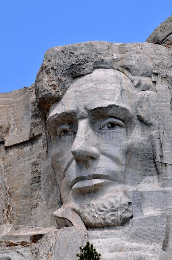 Close up de Abraham Lincoln foto de stock royalty free