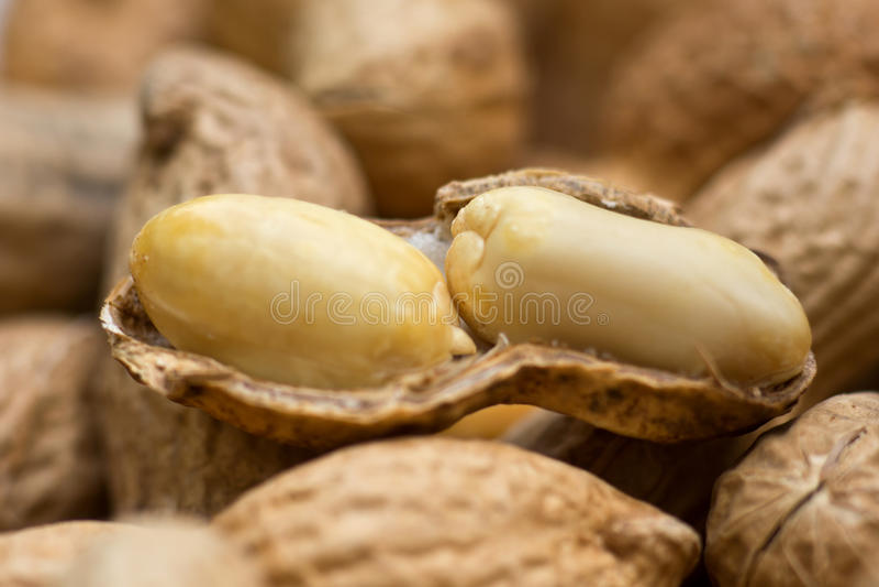 Close up de alguns amendoins imagens de stock