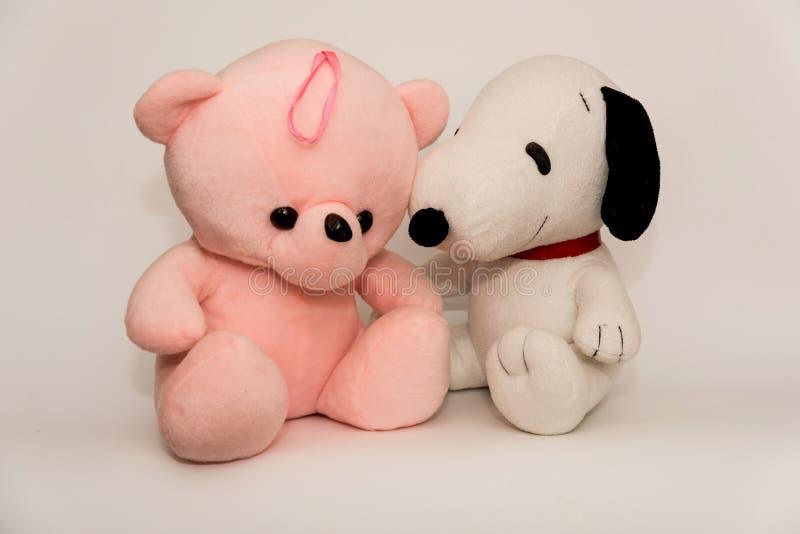 Close up de animais enchidos do brinquedo foto de stock