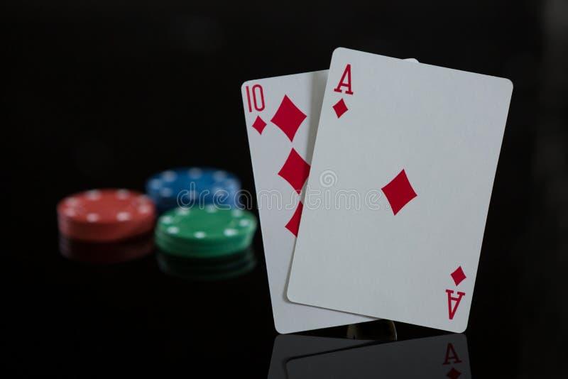 Close-up de cartões do diamante com microplaquetas foto de stock royalty free