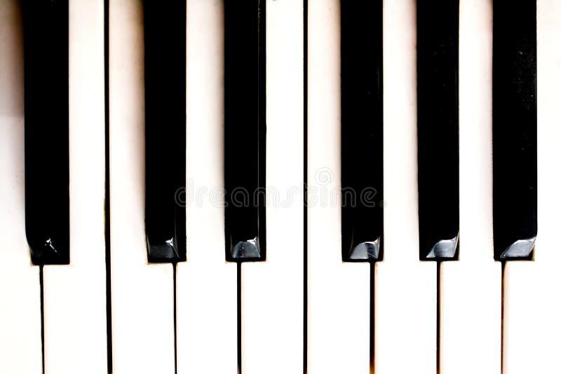 Close-up de chaves do piano vista frontal próxima fotografia de stock royalty free