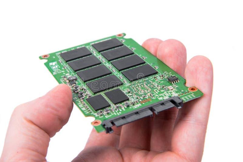 Close up de circuito integrado aberto da movimentação fotografia de stock