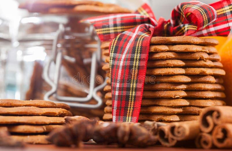 Close-up de cookies do gengibre imagem de stock royalty free