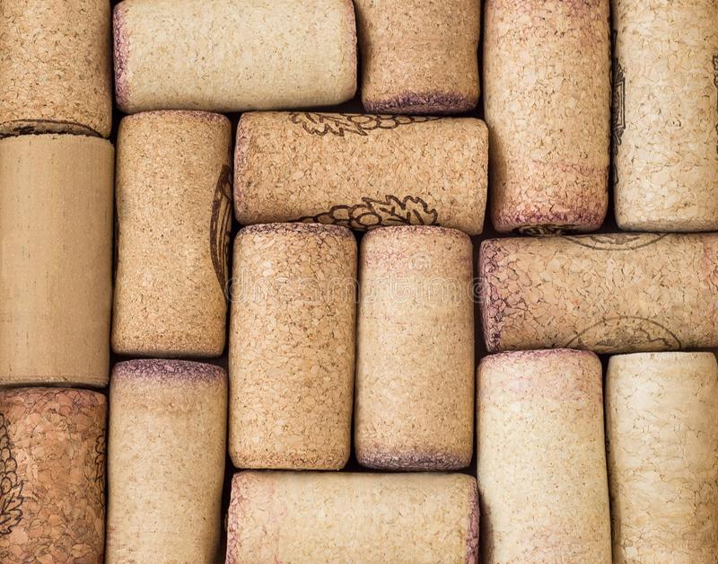 Close up de cortiça ou de bujões do vinho fotografia de stock royalty free