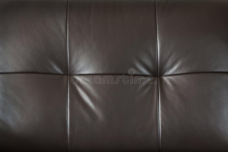Close up de couro da mobília fotos de stock