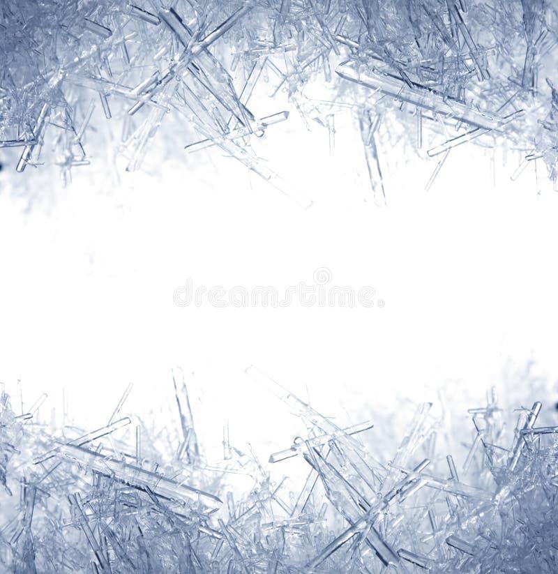 Close up de cristais de gelo fotografia de stock