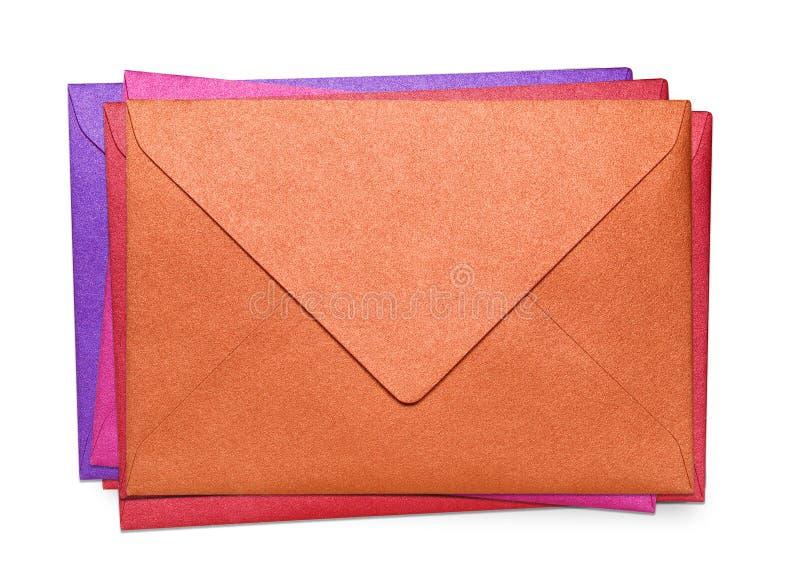 Close-up de diversos envelopes. fotografia de stock