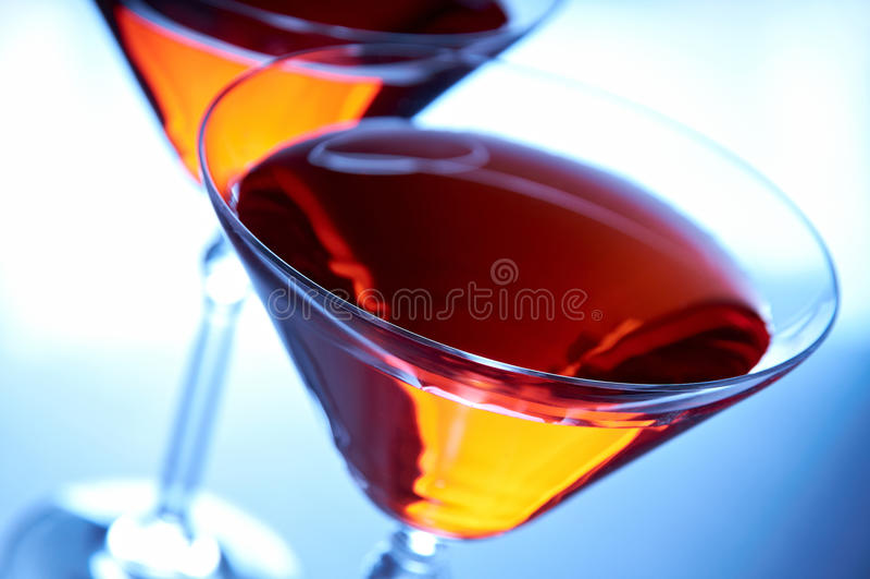 Close-up de dois cocktail imagem de stock royalty free