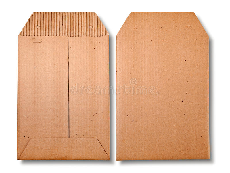Close-up de dois envelopes. imagens de stock royalty free