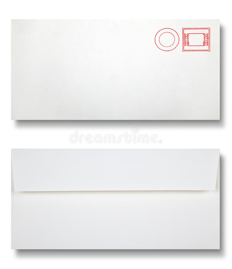 Close-up de dois envelopes. fotos de stock