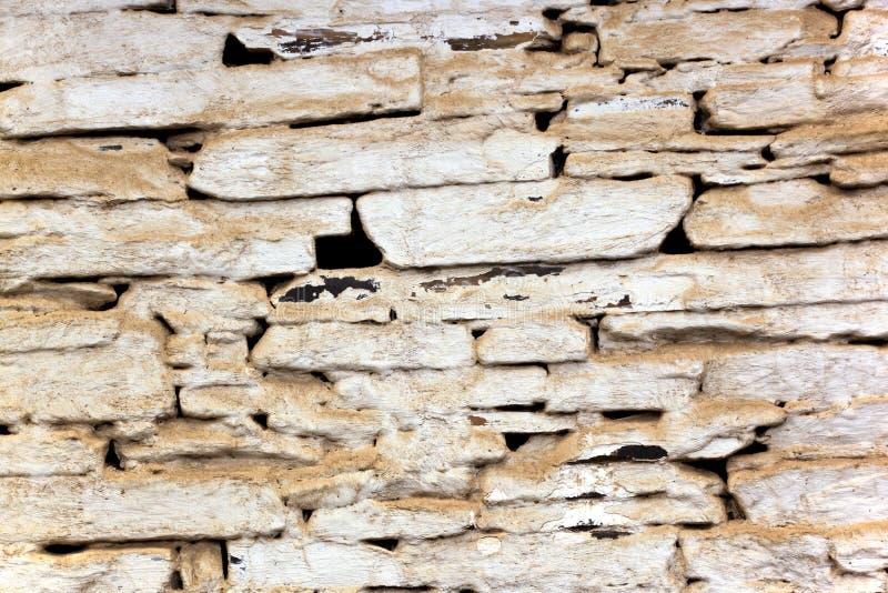 Close up de Dusty Bagged Vintage Stone Wall imagens de stock
