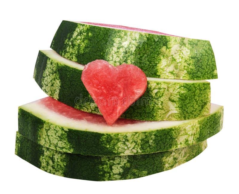 Close up de fatias frescas de melancia vermelha foto de stock royalty free