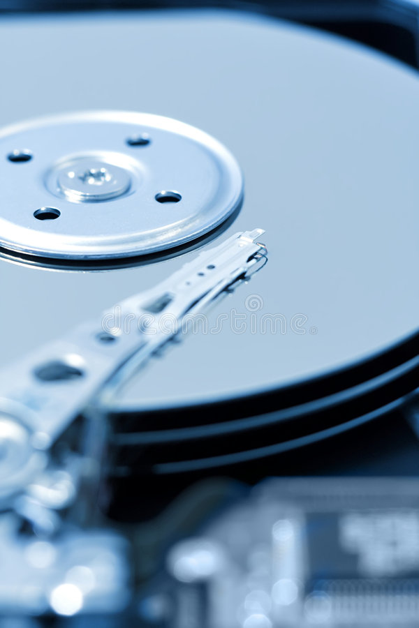 Close-Up de Harddrive/disco duro foto de stock royalty free