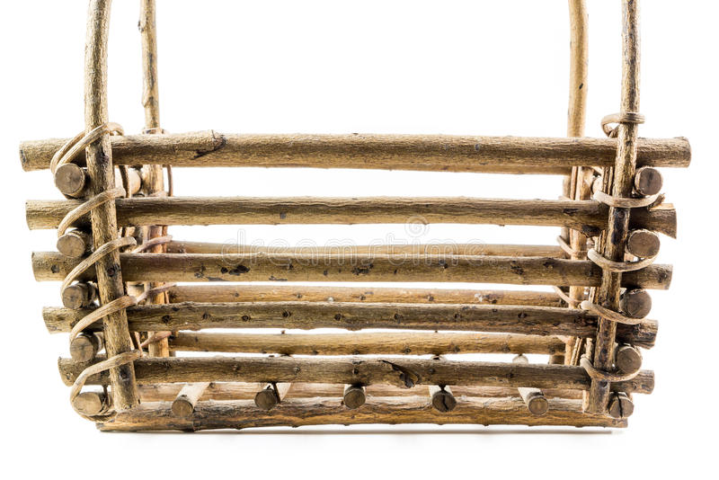 Close up de madeira da cesta fotos de stock