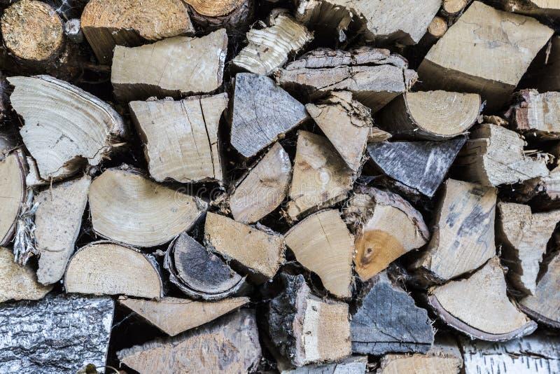 Close-up de madeira dos logs imagem de stock royalty free