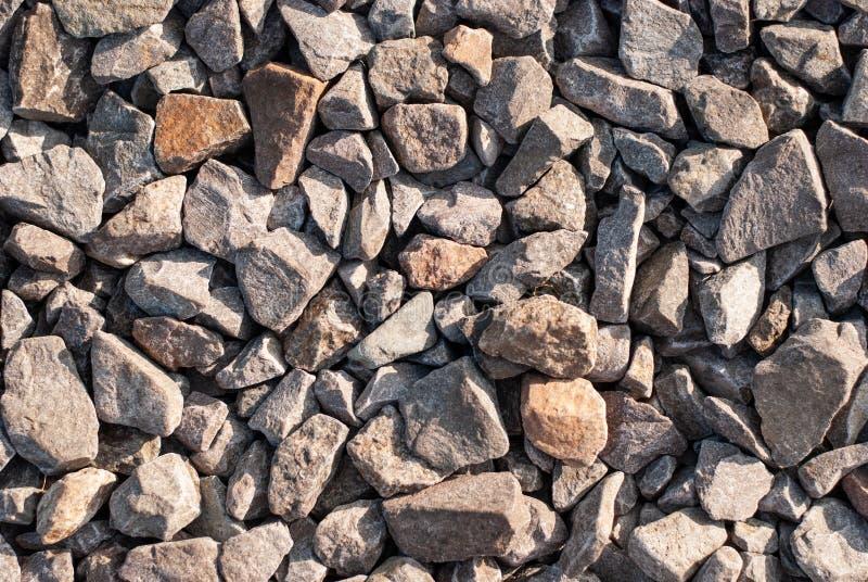 Close up de pedra da entulho e do cascalho como um fundo abstrato foto de stock royalty free