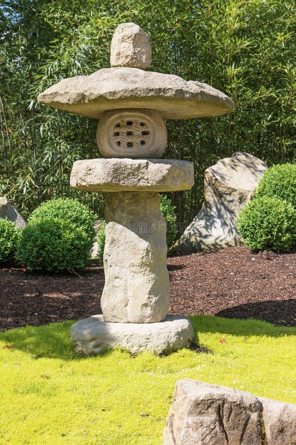 Close up de pedra japonês da lâmpada foto de stock