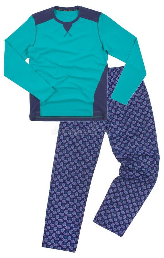 Close up de pijamas de aquecimento de um inverno em um branco fotografia de stock