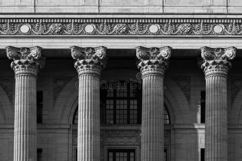 Close up de quatro colunas em Albany do centro imagens de stock royalty free