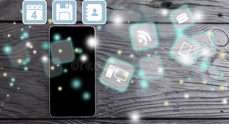 Close-up de sinais digitais no fundo móvel fotografia de stock royalty free