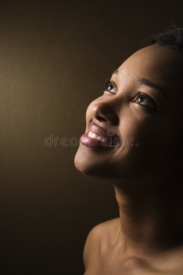 Close-up de sorriso da mulher fotos de stock royalty free
