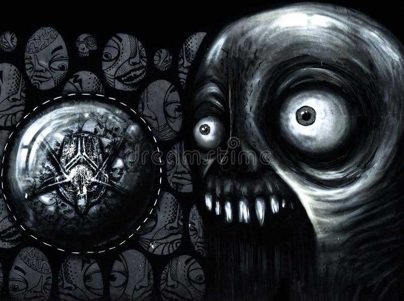 Close up de um amuleto ilustração stock