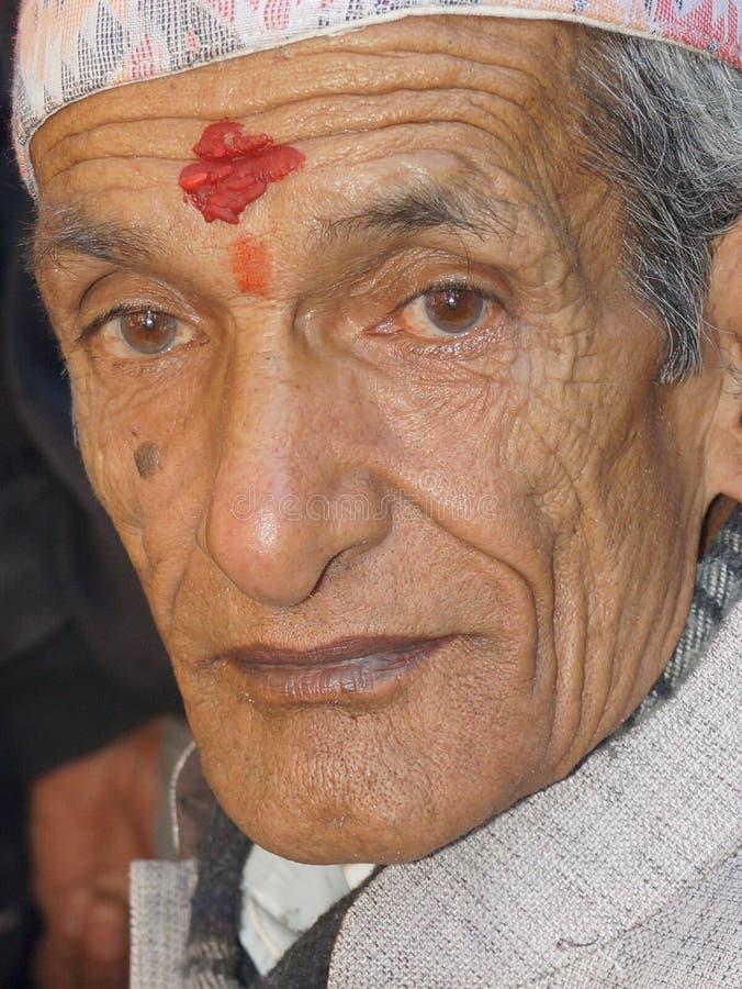 Close up de um ancião imagem de stock royalty free