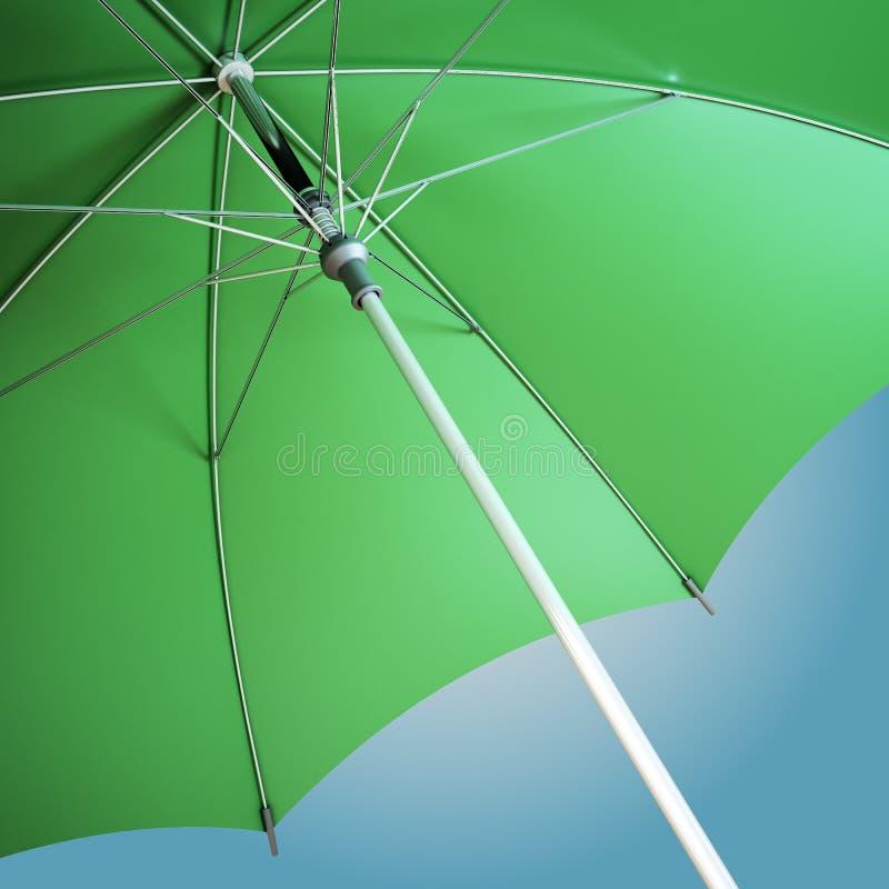Close-up de um guarda-chuva aberto ilustração do vetor